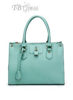 Graceful PU Leather Women Tote Handbag with A Lock