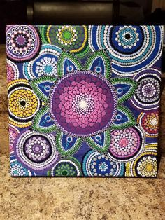 Check out this item in my Etsy shop https://www.etsy.com/listing/584708064/dot-art-canvas-1212