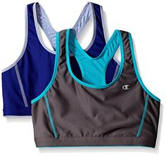 Champion Women's Reversible Racerback Sports Bra, Medium Gray/Pelican Blue/Sapphire/Peri, Small (Pack of Running Wear, Lingerie Party, Racerback Sports Bra, Active Wear For Women, Women's Fashion Dresses, Latest Fashion Trends, Sport Outfits, Champion, Women's Activewear