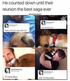 Chris Evans and his precious dog