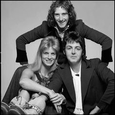 Denny Laine, Linda Eastman and Paul McCartney. Heather Mccartney, Paul Mccartney And Wings, Elvis Presley, Wings Song, Denny Laine, Wings Over America, Linda Eastman, Band On The Run, Blues