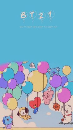 Kawaii Wallpaper, Bts Wallpaper, Iphone Wallpaper, Bts Cute, Bts Birthdays, Bt 21, Bts Backgrounds, Line Friends, Bts Chibi