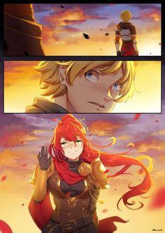 Pyrrha x Jaune Rwby Anime, Rwby Fanart, Manga Art, Anime Art, Rwby Jaune, Rwby Pyrrha, Character Art, Character Design, Rwby Red