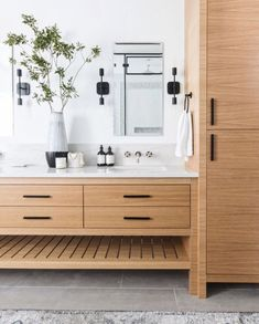 Awesome Bathroom Interior Design Ideas I Awesome Bathroom Decor Inspiration Wood Bathroom, Bathroom Renos, Bathroom Renovations, Bathroom Ideas, Bathroom Mirrors, Bathroom Inspo, Bathroom Mold, Bathroom Canvas, Silver Bathroom