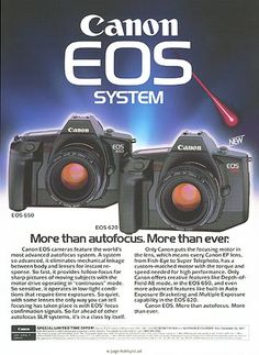 Canon ad of the then-new EOS system