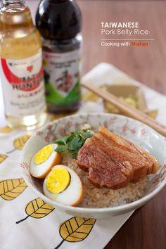 Taiwanese Braised Pork Belly Rice. So yummy | rasamalaysia.com