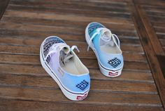 Custom Hand Painted Pastel Tribal Vans Authentic by BStreetShoes | Cause It Looks Dope