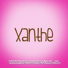 Xanthe  (Voor meer inspiratie, en unieke geboortekaartjes kijk op www.heyboyheygirl.nl)