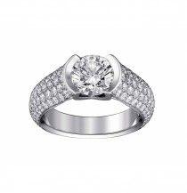 CARTIER - Bague Solitaire C de Cartier, platine et diamants