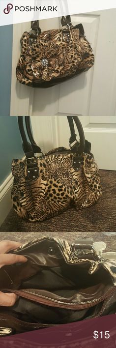purse tiger print purse Bags Shoulder Bags