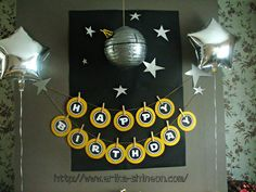 star wars party ideas   Free Printable: Star Wars Birthday Banner here.