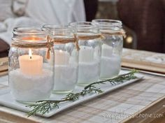 DIY Advent Candles http://www.ivillage.com/holiday-diy-projects-using-mason-jars/7-a-551597