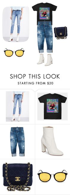 """Untitled #176"" by alura-luna ❤ liked on Polyvore featuring GRLFRND, Dsquared2, Steve Madden, Chanel and Yves Saint Laurent"