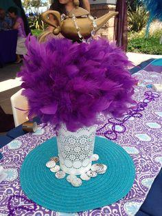 Princess jasmine feather arrangements