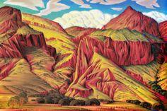 Alexander Hogue --Eroded Lava Badlands Alpine 1982