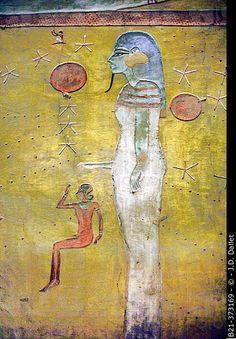 Decoration detail: Tomb of Tutankamon, Kings Valley, Luxor West Bank, Egypt