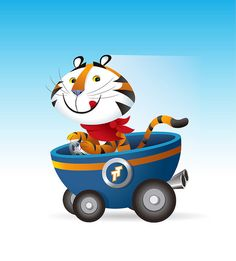 Tony Tiger - Cereal Racers by Jerrod Maruyama, via Flickr