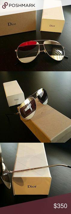 CD Christian Dior Split1 So Real Silver Sunglasses CD Christian Dior So Real Split 1 Silver Mirror Sunglasses Christian Dior Accessories Sunglasses