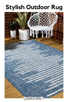 Inspired by vintage Moroccan rugs, our modern striped rug has a soft, low pile. The stripe pattern is woven down the center in a tribal-inspired design that recalls traditional Berber rugs. Add some Bohemian style to your living room, bedroom, or reading nook with this easy-care rug.Item Specification Farmhouse Style Rugs, Moroccan Rugs, Striped Rug, Indoor Outdoor Area Rugs, Stripe Pattern, Home Rugs, Reading Nook, Coastal Style, Berber Rug