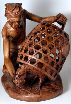 The wood carvers are amazing! Wooden carved art ~ BALI