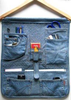 Jeans, organizador, reciclagem