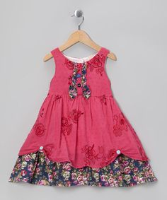 Loving this Pink Floral Cupcake Dress - Infant on #zulily! #zulilyfinds