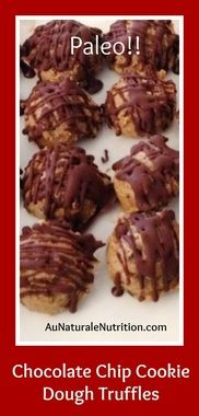 Sunbutter Chocolate Chip Cookie Dough Truffles, www.aunaturalenutrition.com