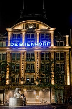 De Bijenkorf flagship store in Amsterdam Dam Square by Cyber+Nomad, via Flickr