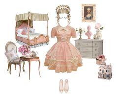 """Little Princess"" by mochineko ❤ liked on Polyvore featuring ANNA, Viva La Diva, PEONY, MOR Cosmetics, OKA, Dollhouse, Dot & Bo, Miu Miu, cute and Pink"