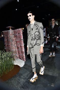 Thom Browne SS16 Men Fashion Show Paris Backstage | Sonny Vandevelde
