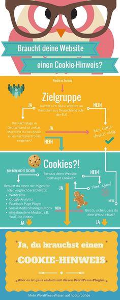 Bist Du ein Cookie-Monster? Die wichtigsten Infos zu Cookie-Hinweisen [Infografik] -  Infografik Cookie-Hinweis WordPress