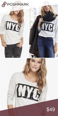 💜Express sequin New York City pullover sweater Size medium. Rare NYC sweater. $225 EUC  💟Fast 1-2 day shipping 💟Reasonable offers accepted 💟Purchase 3 or more items & get a special bundle rate!  💟Smoke-free home Express Sweaters Crew & Scoop Necks