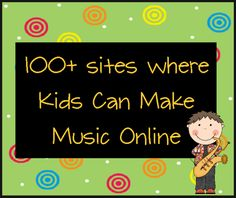 livebinder of online music sites for kids