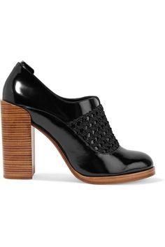 3.1 Phillip Lim Woman Claridge Woven-paneled Glossed-leather Pumps Black Size 35 3.1 Phillip Lim Choice Cheap Price Sale Manchester Great Sale Mjq8sBL6K