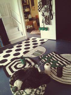 A few crochet carpets I've made. Molla Mills Crochetterie