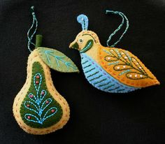 a partridge and a pear -- the rest of the 12 days are on the blog.