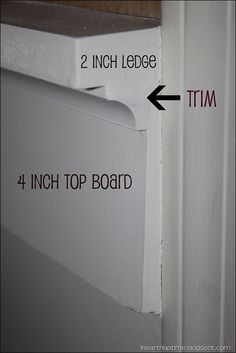 ledge setup for board and batten treatment