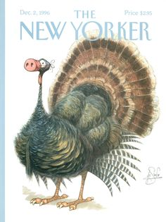 """The New Yorker - Monday, December 2, 1996 - Issue # 3731 - Vol. 72 - N° 37 - Cover """"Dressed Turkey"""" by Peter de Sève"""