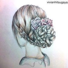 how to draw hair braids | beautiful, braid, drawing, girl - inspiring picture on Favim.com
