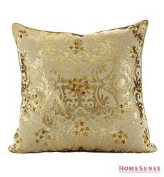A gold cushion can be used as a fun accent piece that will add a pop of shine and flair to any chair or sofa. #living #room #accent #decor #home #style #ideas / Un coussin décoratif doré ajoutera une touche chic et élégante à n'importe quel fauteuil ou canapé.  #salon #decoratif #deco #maison #style #idees Enter Contest: http://www.HomeSense.ca/HomeSenseStyle Participer: http://www.HomeSense.ca/HomeSenseStyleFr  #HomeSenseStyle