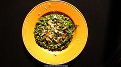 Kaszotto z pęczaku i szpinaku z płatkami migdałowymi   andrasz-kulinarnie