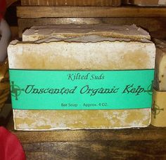 Organic Kelp Handmade Soap, Natural Soap, Organic Soap, Mint Soap, Vegan Soap, Artisan Soap, Cold Process, Bar Soap - pinned by pin4etsy.com