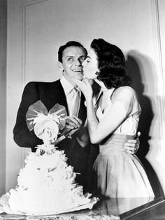 Frank Sinatra and Ava Gardner on their wedding day november 7th 1951