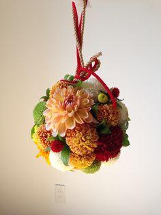 ボールブーケ#和装 #wedding Whimsical Wedding, Floral Wedding, Wedding Bouquets, Wedding Flowers, Beautiful Flower Arrangements, Floral Arrangements, Japanese Wedding, Peach Flowers, Flower Ball