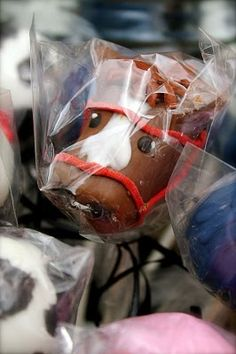 Horse cake pop