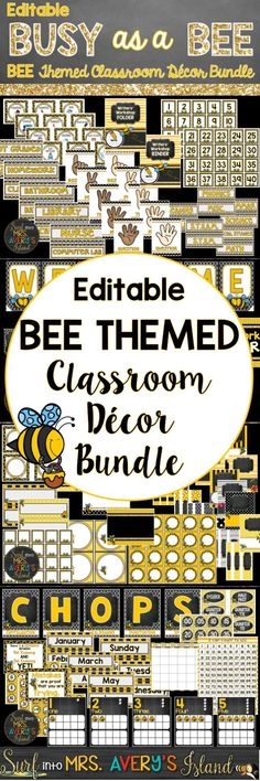 If you are a teacher just buzzing for a Bee Themed classroom, this editable decor bundle is full of your back to school printables to help to turn your ideas and bulletin boards into a BEE-utiful masterpiece. Click here to take a look at the preview and see what other teachers have to say!