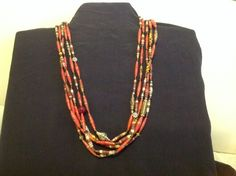 Paper beads, red