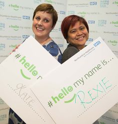 "Northumbria NHS Trust | Northumbria Healthcare backs ""Hello, My Name Is…"" campaign"