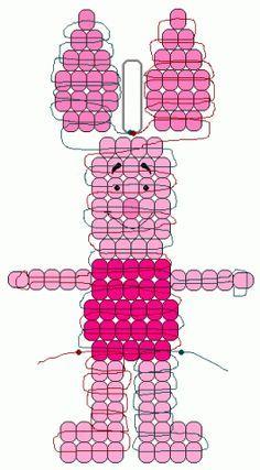 Схемы | biser.info - всё о бисере и бисерном творчестве Pony Bead Projects, Pony Bead Crafts, Beaded Crafts, Pony Bead Patterns, Beading Patterns Free, Beaded Bracelet Patterns, Pony Bead Animals, Beaded Animals, Pearl Crafts