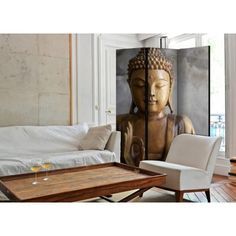 Buddha, Wingback Chair, Decoration, Accent Chairs, Divider, Meditation, Couch, Street Art Graffiti, Furniture